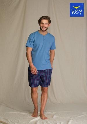Pánské pyžamo MNS 223 A21 tmavě modrá-modrá 2XL