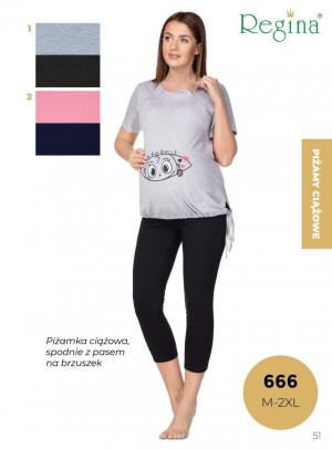 Dámské pyžamo 666 BIG žíhaná 2XL