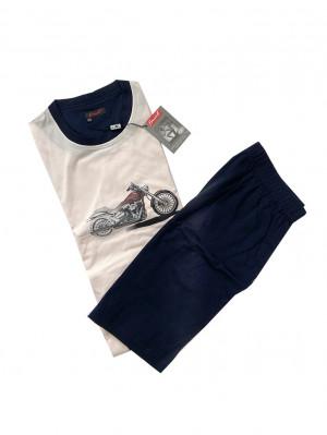 Pánské pyžamo Jaw G KR - Favab modro-růžová