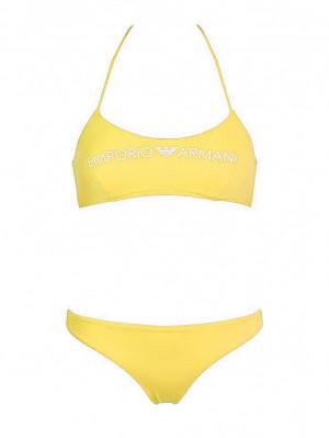 Dámské dvoudílné plavky 262618 0P313 00560 žlutá - Emporio Armani žlutá