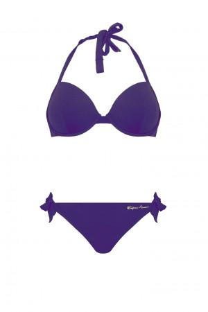 Dámské dvoudílné plavky 262660 0P300 00092 fialová - Emporio Armani fialová