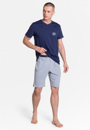 Pánské pyžamo Henderson Premium 38882 Dodge kr/r M-3XL modrá