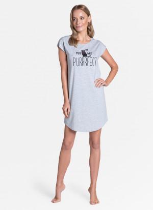 Dámská noční košile Henderson Ladies 38904 Timber kr/r S-XL světle šedá