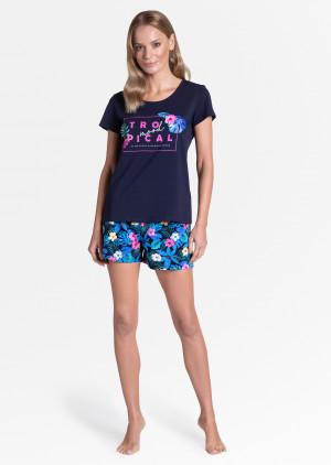 Dámské pyžamo Henderson Ladies 38905 Tropicana kr/r S-XL fuchsiová