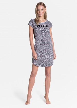 Dámská noční košile Henderson Ladies 38895 Tiger kr/r S-XL světle šedá