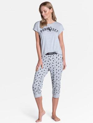 Dámské pyžamo Henderson Ladies 38903 Timber kr/r S-XL světle šedá