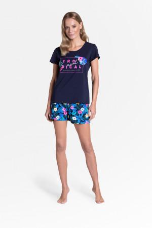 Dámské pyžamo TROPICANA 38905 tmavě modrá