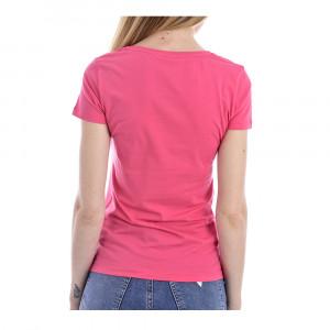 Dámské tričko 163377 0P263 00776 růžová - Emporio Armani růžová