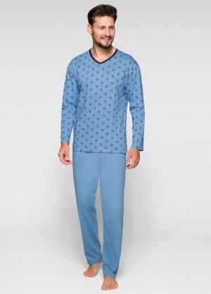 Pánské pyžamo 570 - Regina tmavě modrá - vzor
