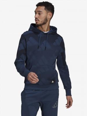 Sportswear Allover Print Mikina adidas Performance Modrá