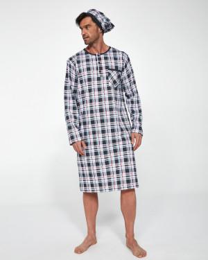 Pánská noční košile 110 Jaro 2021 BIG šedá 5XL