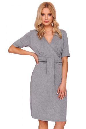 Těhotenská noční košile Dn-nightwear TCB.9116 dark grey l