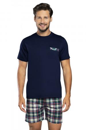 Pánské pyžamo Norbert - Italian Fashion tm.modrá-zelená