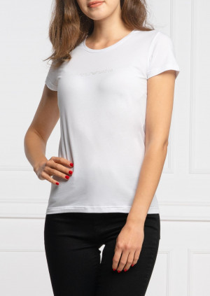 Dámské tričko Emporio Armani 163139 CC318 bílá L Bílá