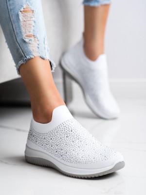 Originální bílé  tenisky dámské bez podpatku