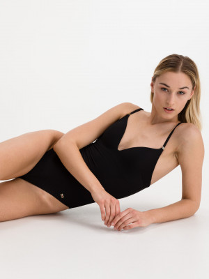 Jednodílné plavky Tommy Hilfiger Černá