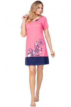 Dámská noční košile Regina 396 kr/r 2XL  růžová