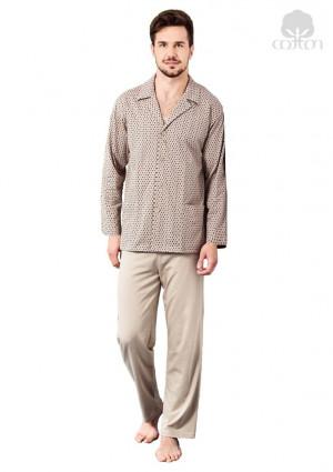 Pánské pyžamo 265 - Regina béžová