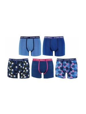 Pánské boxerky 34257 Flowers 1ks - Lee Cooper modrá-proužek