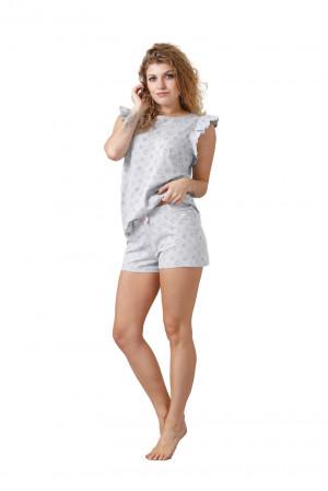 Dámské pyžamo NITA 1013 šedá