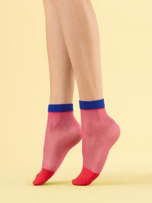 Dámské ponožky Fiore G 1109 Sunset Glow 8 den fuchsiová univerzální