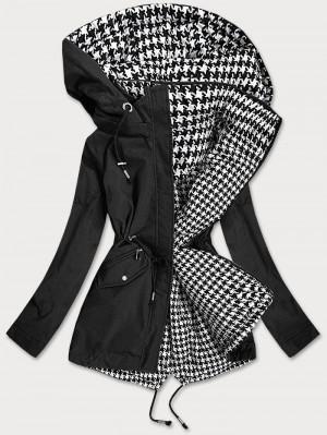 Černo-bílá oboustranná dámská bunda (XW503X) bílá S (36)