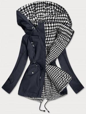 Tmavě modro-bílá oboustranná dámská bunda (XW503BIGX) bílá