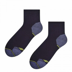 Pánské vzorované ponožky 054 MAX černá/tmavě šedá 47-50
