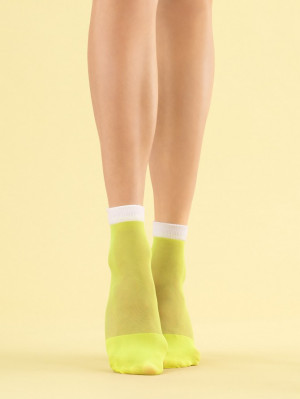 Dámské ponožky Fiore G 1110 Juicy Lime 8 den neon yellow univerzální