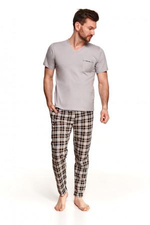 Pánské pyžamo 2520 TYMON M-2XL šedá 2XL
