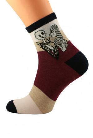 Dámské ponožky Bratex Popsox Halloween 5643  bordó 36-38