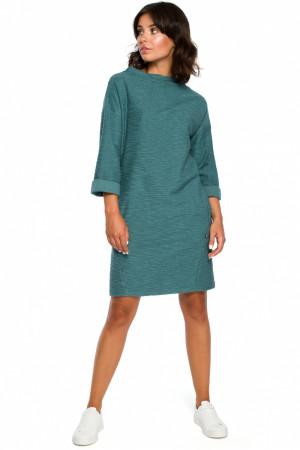 dámské šaty model 124052 - BEwear  tyrkysová