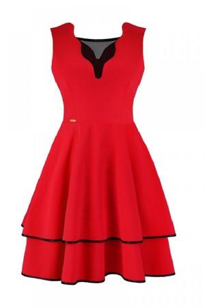 Dámské šaty Oktavia model 108510 - Jersa  tmavě modrá L-40