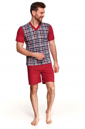 Pánské pyžamo Taro Roman 001 kr/r 2XL-3XL L'21 tmavě šedá-mátová