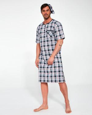 Pánská noční košile Cornette 109/06 654502 kr/r M-2XL  tmavě šedá