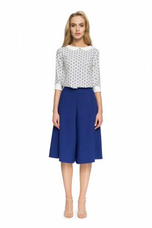 Dámská kalhotová sukně S041 - Stylove královská modř