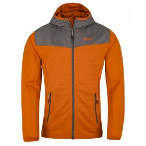 Pánská fleecová mikina  Aoraki-m oranžová - Kilpi
