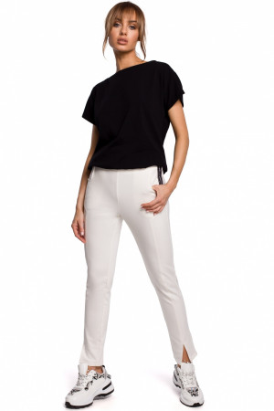 Dámské kalhoty M493 - Moe  ecri(krémová) S-36