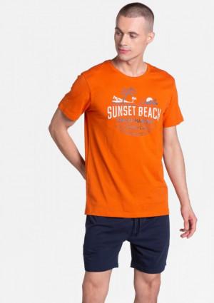 Pánské pyžamo Henderson 388867 L Oranžová