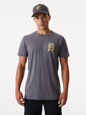 MLB Detroit Tigers Triko New Era Šedá