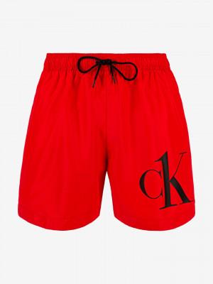 Medium Drawstring Plavky Calvin Klein Červená