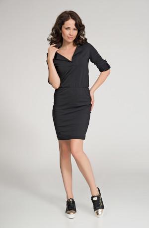 Dámské šaty značkové volnočasové černé - Černá - Numinou černá