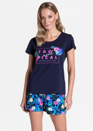 Dámské pyžamo Henderson 38905 L Tm. modrá