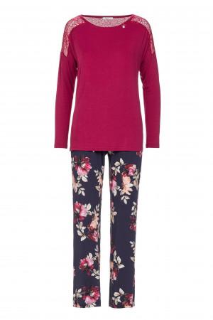 Dámské pyžamo 13288 Vamp S tmavě růžová