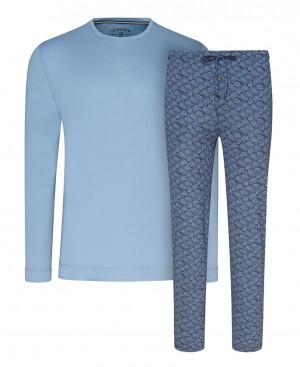 Pánské pyžamo 500002 454 JOCKEY XXL modrá s potiskem