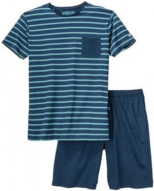 Pánské pyžamo 500007 458 JOCKEY XL modro-zelená