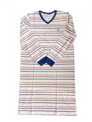 Pánské noční košile 11676 - Vamp bílá-proužek
