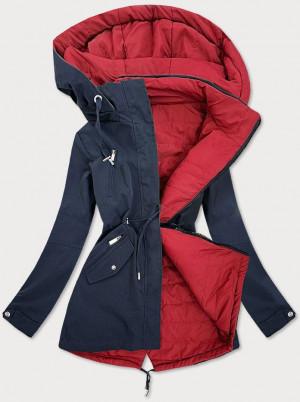 Tmavě modro - červená oboustranná dámská bunda (W505) červená S (36)