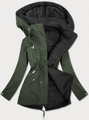 Khaki-černá oboustranná dámská bunda (W505) khaki S (36)