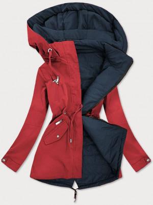 Červeno-tmavě modrá oboustranná dámská bunda (W505) červená S (36)